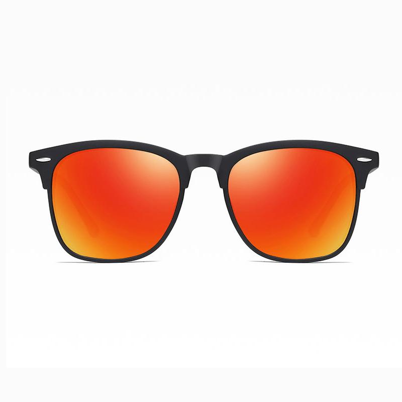 Klarec EyeWear - SunGlasses - HD Polarized - Elasticity Black with Red Film