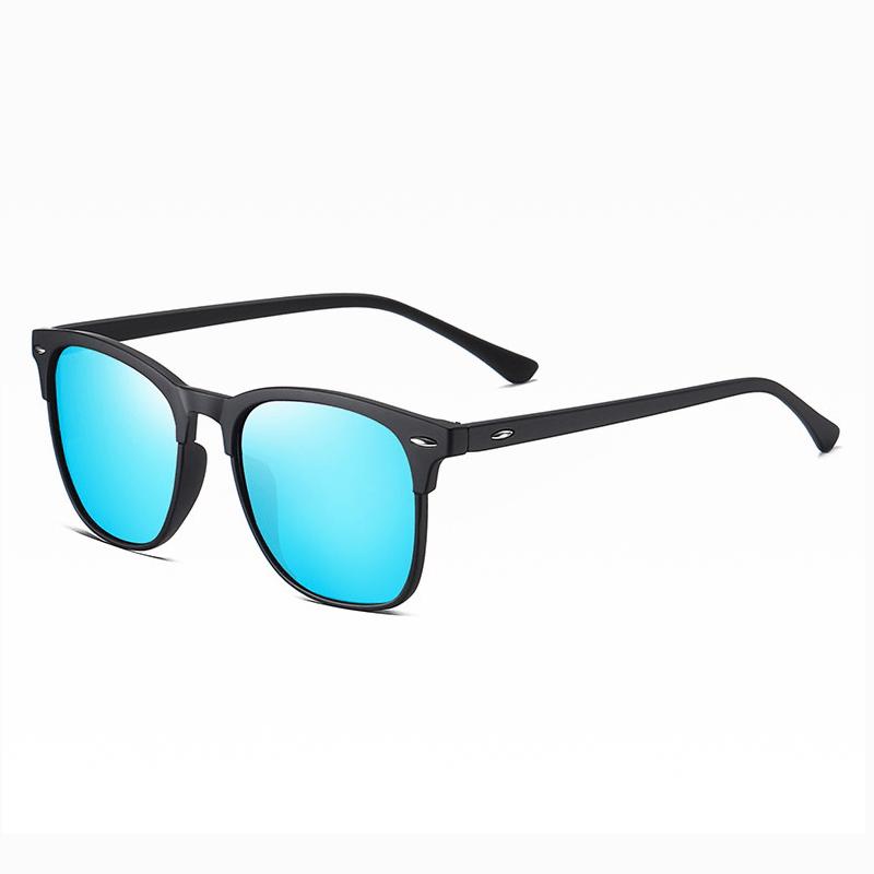 Klarec EyeWear - SunGlasses - HD Polarized - Elasticity Black with Ice Blue Film