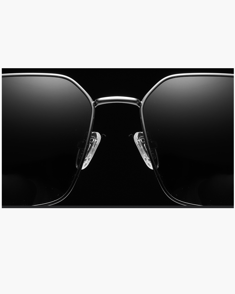 Klarec EyeWear - SunGlasses - HD Polarized - Pentagon Shaped - Black Grey