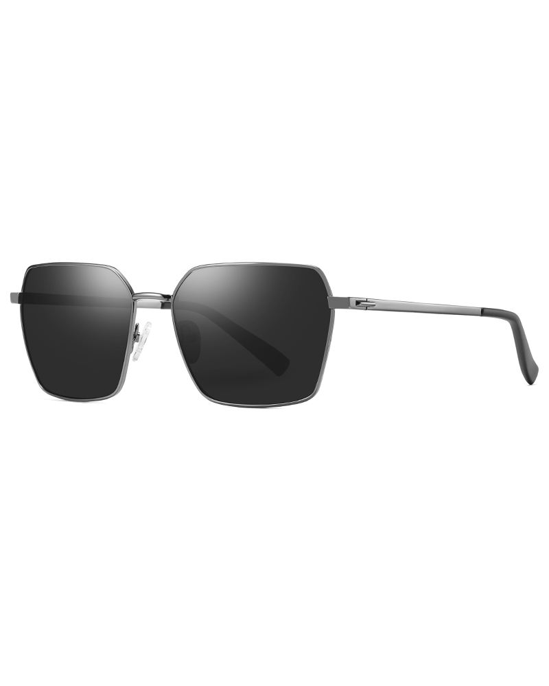 Klarec EyeWear - SunGlasses - HD Polarized - Pentagon Shaped - Gun Grey
