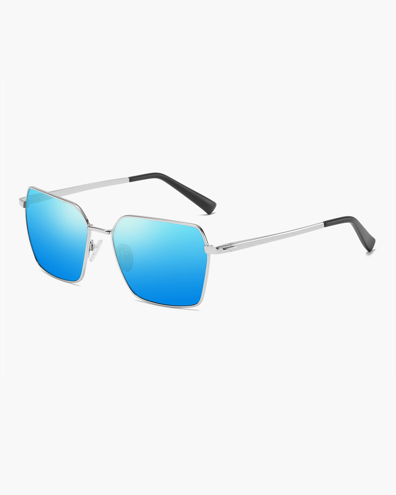 Klarec EyeWear - SunGlasses - HD Polarized - Pentagon Shaped - Sliver Blue