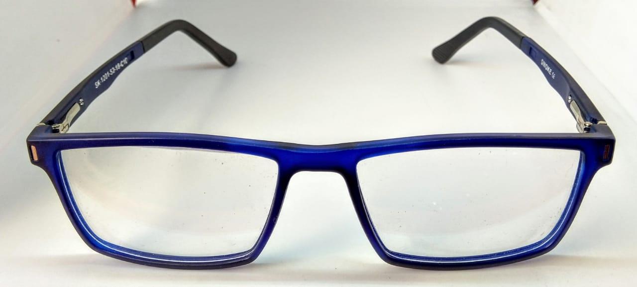 EyeGlasses – Super Flexible and unbreakable - Navy Blue - Square Shape