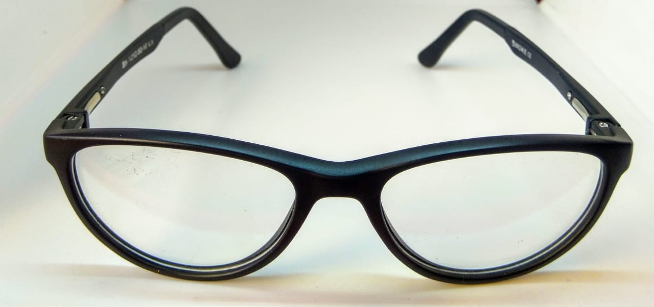EyeGlasses – TR90 Frame – Super Flexible and unbreakable - Black - Round Shape