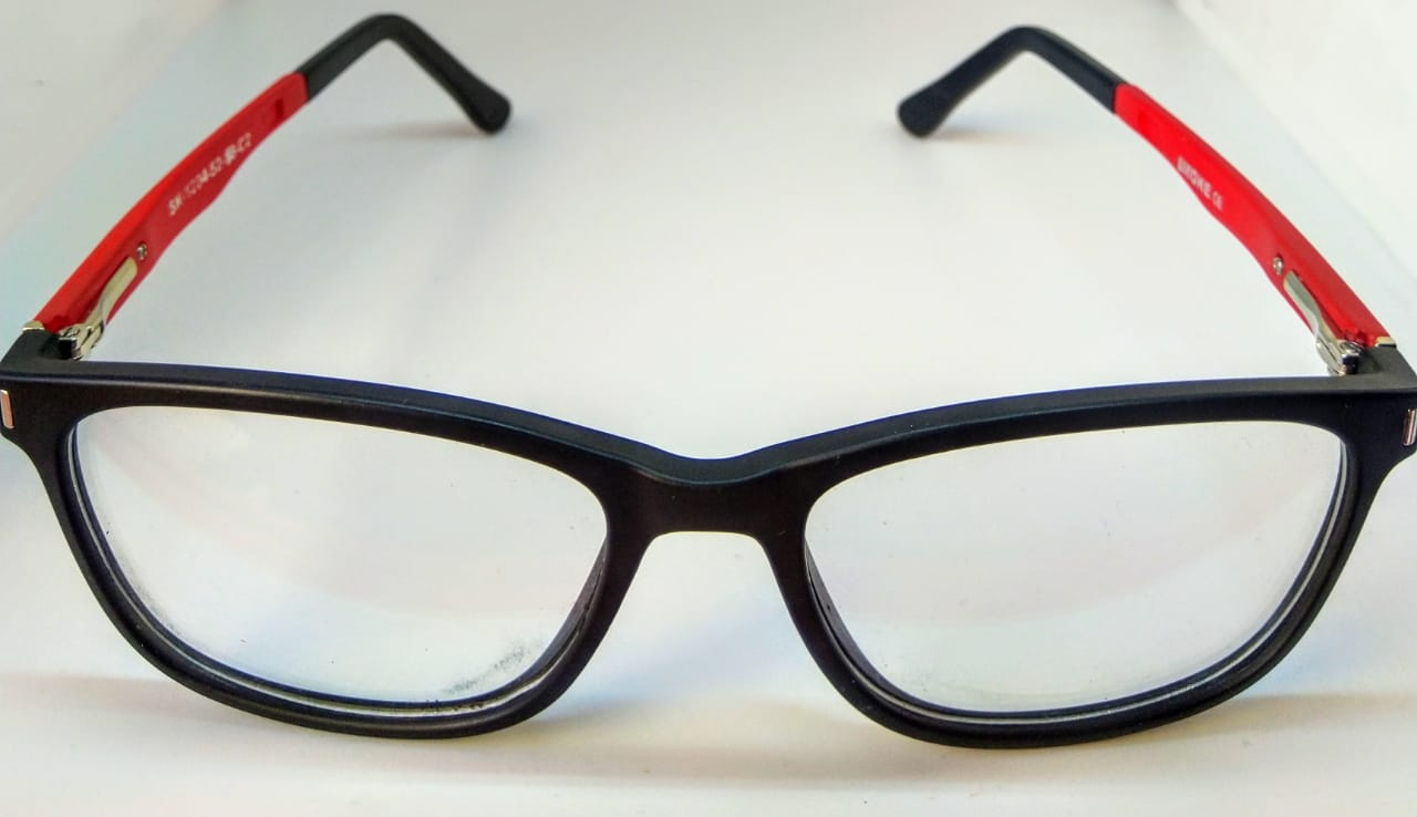 EyeGlasses – TR90 Frame – Super Flexible and unbreakable - Red and Black - Round Shape